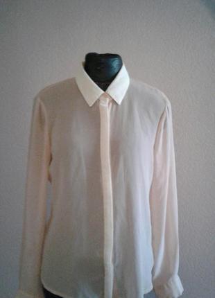 Легкая блуза цвета пудры  l