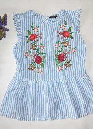 Блузка с вышивкой m&co 10-11 лет
