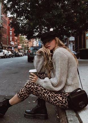 Трендовые леопардовые штаны брюки & other stories zara prettylittlething h&m bershka