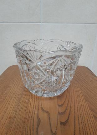 Хрустальная конфетница ваза