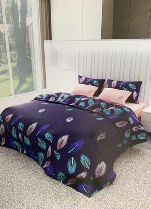 Комплект постельного белья двуспальный макси, 100% хлопок