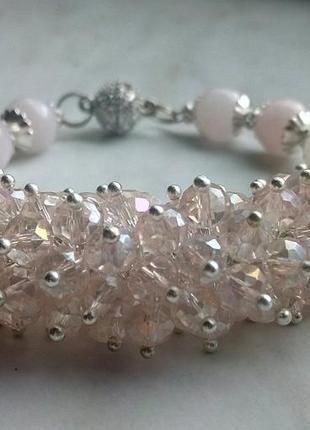 Супер нежный розовый браслет