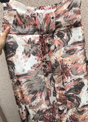 Платьице длинное шифон, платье открытое в пол, нежное платье летнее для беременных