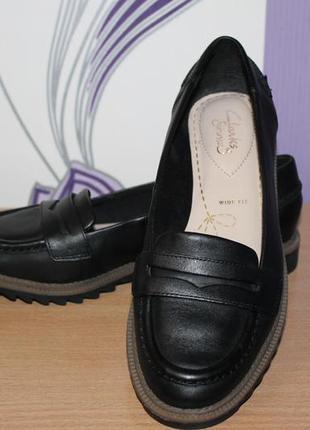 Туфли лоферы clarks натур кожа