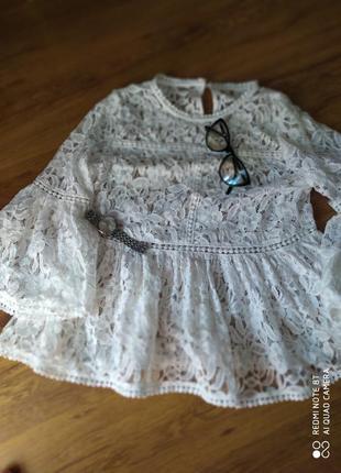 Крутая блуза ,універсальна,рукава волан