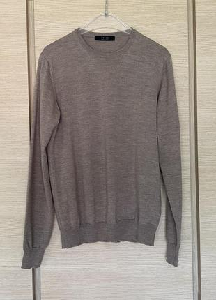 Пуловер шерстяной стильный премиум бренд италии vneck размер l