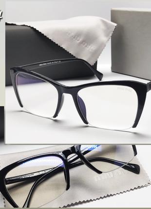 Компьютерные женские полуободковые очки