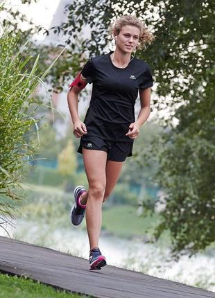 Kalenji футболка спортивная женская черная для бега\фитнеса\зала xs\s