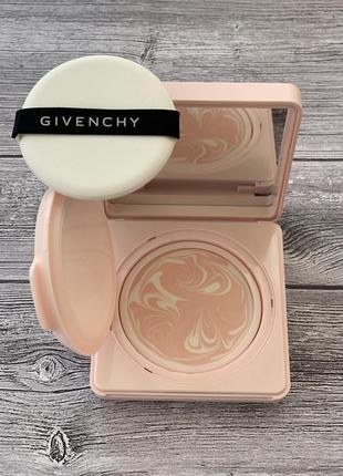 Givenchy l'intemporel blossom-fresh-face compact day cream увлажняющий крем в пудренице