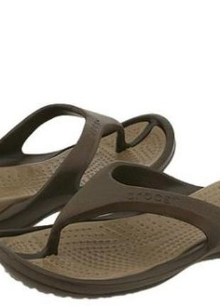 Вьетнамки кроксы crocs flip flops, chocolatekhaki