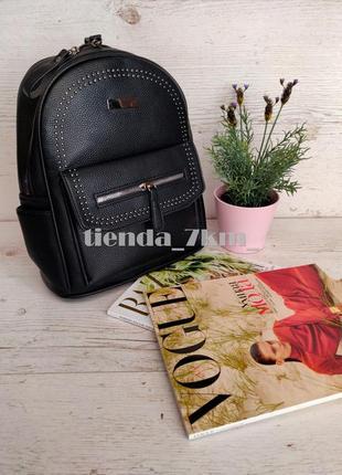 Городской рюкзак 1505 черный из кожзама