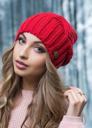 Стильная зимняя шапочка алина на флисе