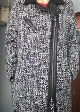 Теплое пальто косуха