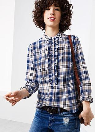 Мягкая фланелевая рубашка в модную клетку tcm tchibo