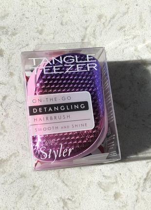 Расческа tangle teezer compact styler detangling hairbrush mermaid sunset pink