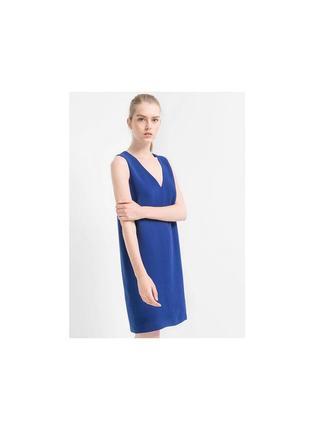 Пиямое платье mango свободный пошив электрик пряма сукня