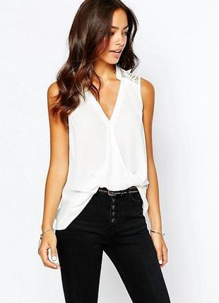 Однотонная блуза блузка белая new look топ