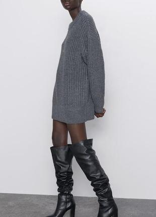 Новый серый свитер zara