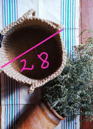 Сумка шопер вязанная джутовая.5 фото