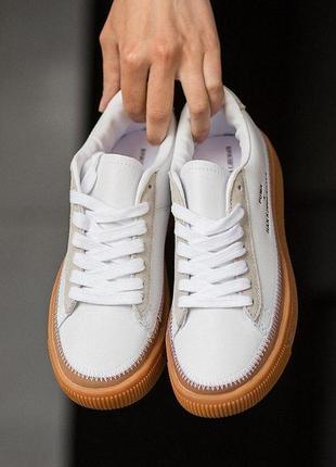 Puma clyde stitched х han kjobenhavn🔺 шикарные женские кроссовки пума