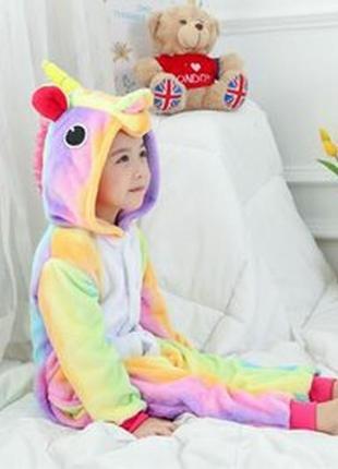 Комбинезон костюм пижама кигуруми единорог радужный
