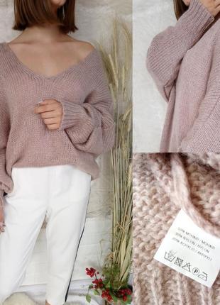 Мохеровый свитер бохо стиль италия one size