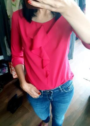 Красивая блузка цвет фуксия