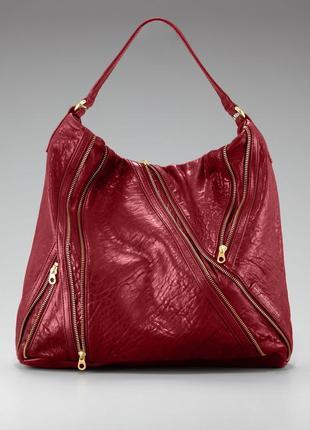 Подлинная большая деловая сумка  от marc jacobs leola zip large hobo.