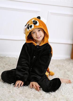 Комбинезон пижама кигуруми 100 см красная панда