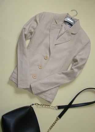 Базовый льняной жакет пиджак c&a s-m