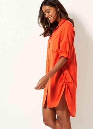 Платье рубашка туника с натуральной ткани