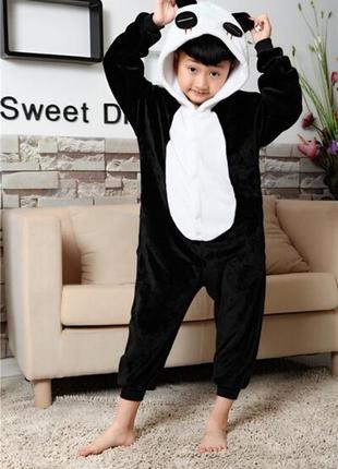 Костюм комбинезон пижама черно-белая панда
