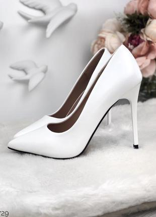 Туфли-лодочки белые