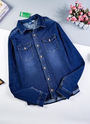 Джинсовая рубашка на 13-14 лет/158-174 см