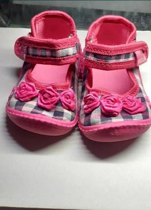 Туфельки, тапочки детские, первая обувь, 18 размер
