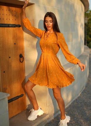Платье на осень с длинным рукавом, пояс на талии