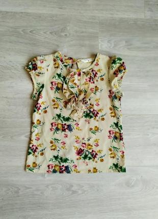 Блузка цветочный принт