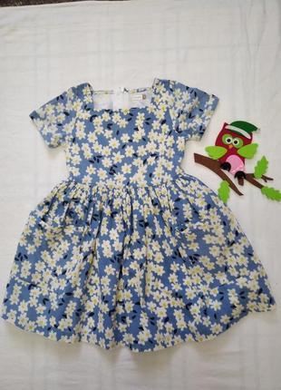 Платье в цветы на р 110 см 5 лет