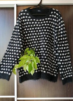 Шикарный свитер кофта травка батал от f&f. натуральный состав.