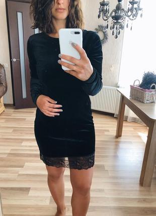 Шикарное бархатное платье с кружевом от champagne sparkles🖤