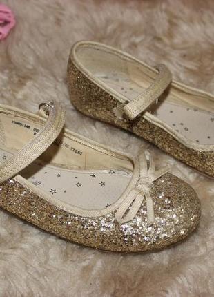 Блестящие туфельки next размер 12