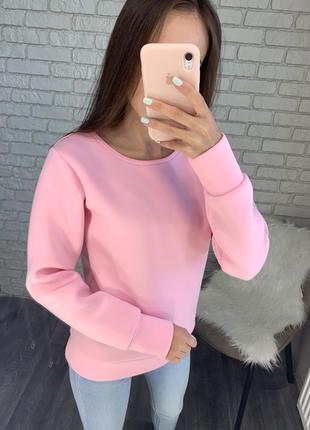 Нежно розовый свитшот из неопрена