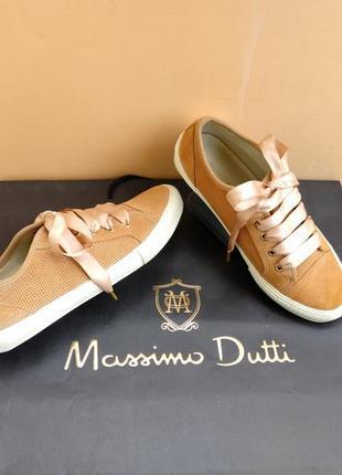 Кеды кожаные замшевые женские massimo dutti 37 размер туфли спортивные массимо дутти