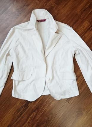 Молчный,100% cotton пиджак, жакет, размер 42
