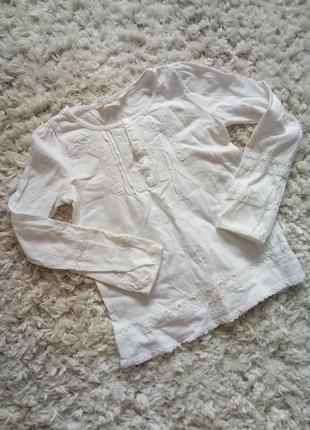 Реглан блузка с кружевом от h&m # школьная форма