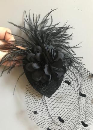 Шляпка с вуалью для костюмированной вечеринки