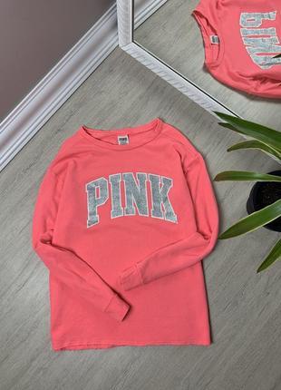 Pink soda victoria secret пинк женская кофта розовая свитшот худи толстовка оригинал