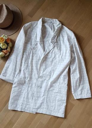 Удлиненный пиджак жакет блейзер хлопок 100