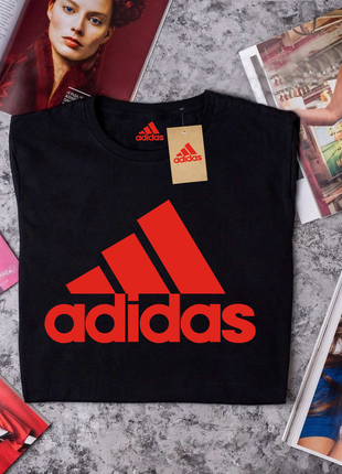Черная футболка adidas (адидас)