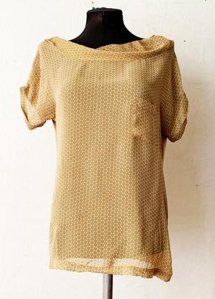 Блуза adolfo dominguez шелк в составе премиум бренд